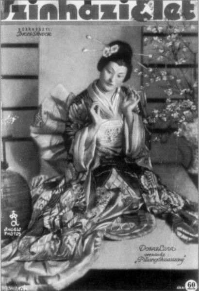 Pillangókisasszonyként a Színházi Élet 1934-es címlapján