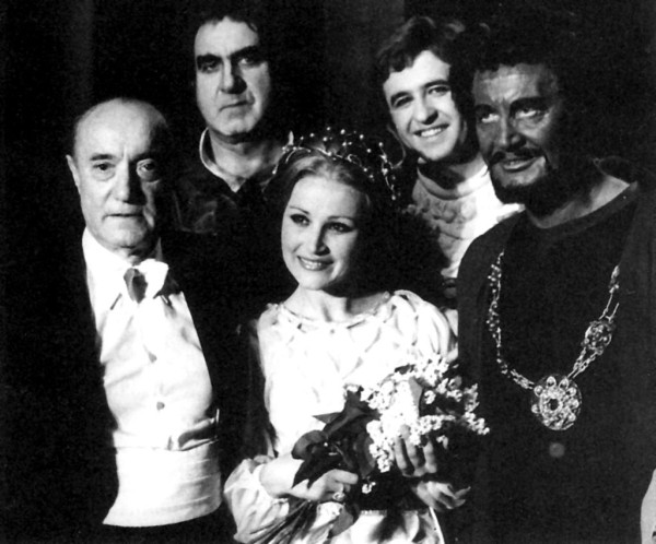 Otello Ferencsik Jánossal, Melis Györggyel, Berkes Jánossal és Melis Györggyel (Fotó: Mezey Béla)
