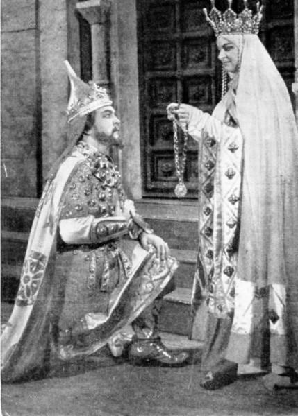 Az Igor herceg Jaroszlavnájaként Jámbor Lászlóval