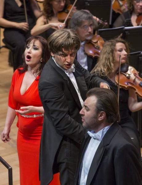 Elena Moşuc, Daniele Rustioni és Vitalij Bilij (fotó: Posztós János / Művészetek Palotája)
