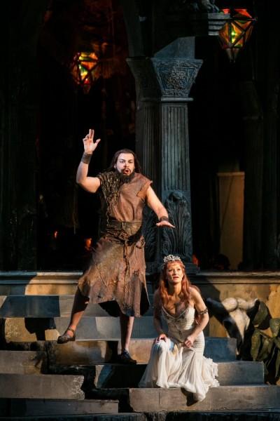 Salome és Jochanaan: Rálik Szilvia és Johannes von Duisburg (fotó: Nagy Attila)