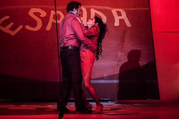 Carmen és Don José: Rinat Shaham és Kiss B. Atilla (fotó: Vermes Tibor)