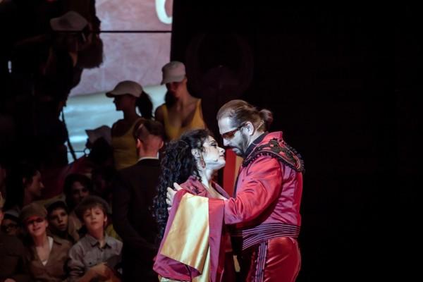 Carmen és Escamillo: Rinat Shaham és Kálmándi Mihály (fotó: Vermes Tibor)