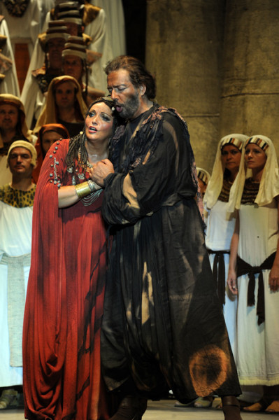 Aida és Amonasro: Sümegi Eszter és Kálmándi Mihály (fotó: Szkárossy Zsuzsa / Budapesti Nyári Fesztivál)