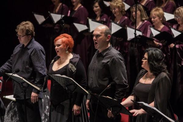 Fekete Attila, Fodor Beatrix, Molnár Zsolt és Wiedemann Bernadett (fotó: Nagy Attila / Magyar Állami Operaház)