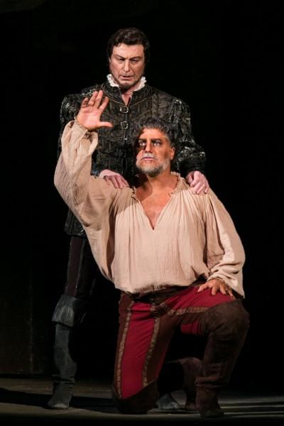 Otello és Jago: José Cura és Fokanov Anatolij (fotó: Nagy Attila / Magyar Állami Operaház)