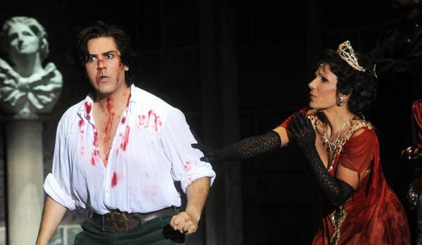 Tosca és Cavaradossi: Giancarlo Monsalve és Béatrice Uria-Monzon (fotó: Szkárossy Zsuzsa / Budapesti Nyári Fesztivál)