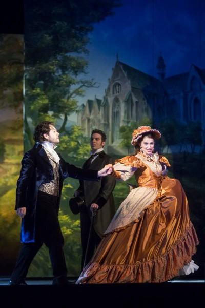 Werther, Albert és Sophie: Arturo Chacón-Cruz, Haja Zsolt és Celeng Mária (fotó: Magyar Állami Operaház)