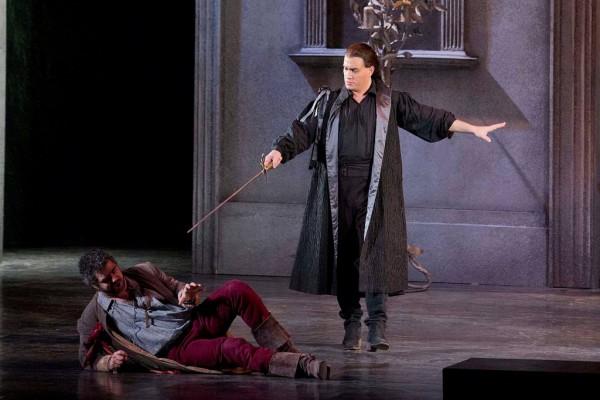 Don Giovanni és Leporello: Erwin Schrott és Sebestyén Miklós (fotó: Rákossy Péter / Magyar Állami Operaház)