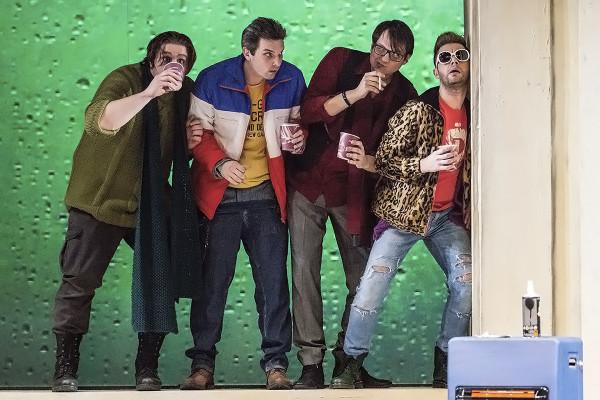A bohémek: Kiss András, Haja Zsolt, Boncsér Gergely és Nagy Zoltán (fotó: Mányó Ádám)