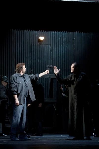 A bánya: Kiss B. Attila és Fried Péter (fotó: Magyar Állami Operaház)