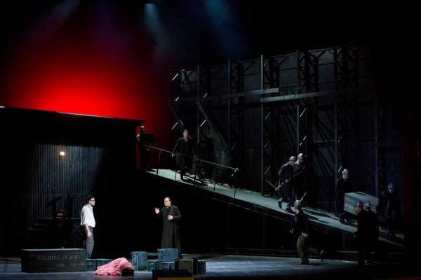 A bánya - jelenet az előadásból (fotó: Magyar Állami Operaház)