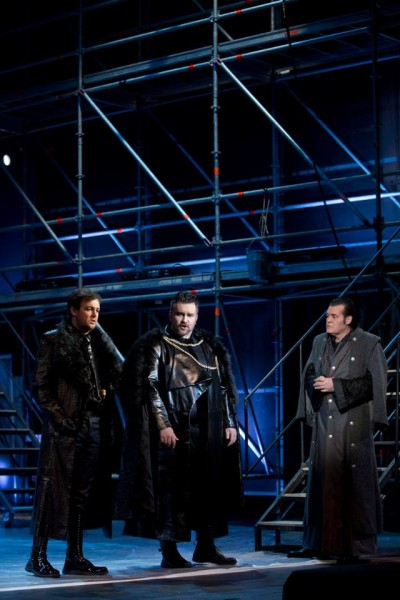 Normanno, Enrico és Raimondo: Ujvári Gergely, Szegedi Csaba és Fried Péter (fotó: Magyar Állami Operaház)