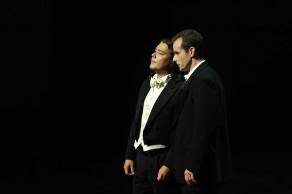 Lenszkij és Anyegin: Steve Dailim és Horváth Ádám (fotó: Művészetek Palotája)