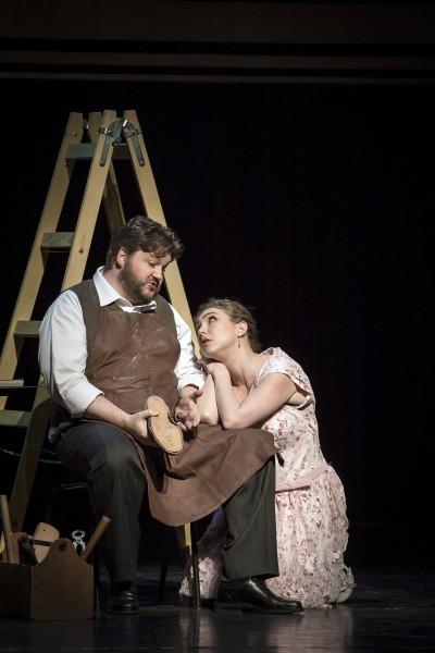 Éva és Sachs: Anette Dasch és James Rutherford (fotó: Vermes Tibor)