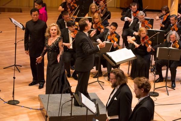 Edita Gruberová, Philippe Do, Andrij Jurkevics, Jozef Benci és Cser Krisztián (fotó: Posztós János)