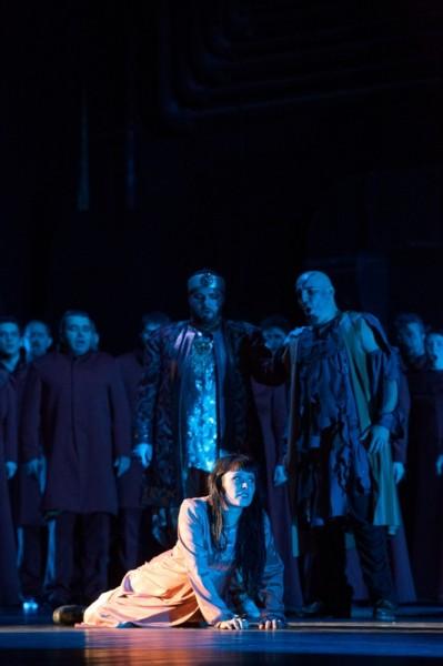 A Szent Johanna fináléja: Covacinschi Yolanda, Cristian Mogosan és Balla Sándor (fotó: Herman Péter)