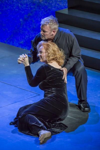 Brünnhilde és Siegfried: Petra Lang és Jay Hunter Morris (fotó: Kocsi Gábor / Művészetek Palotája)