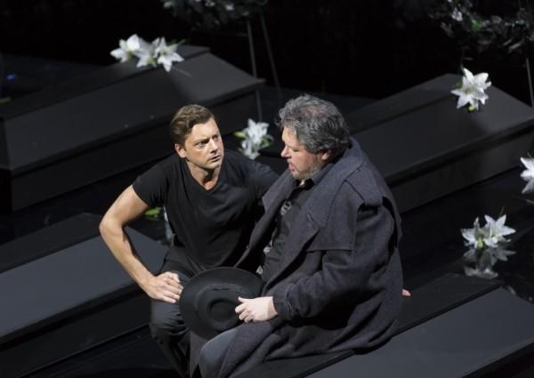 Wolfram és Tannhäser: Lauri Vasar és Stephen Gould (fotó: Posztós János /Művészetek Palotája)