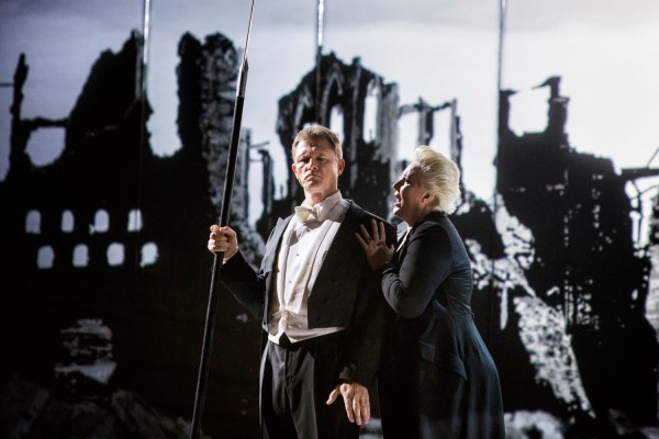 Brünnhilde és Wotan: Iréne Theorin és Egils Silins (fotó: Pályi Zsófia / Művészetek Palotája)