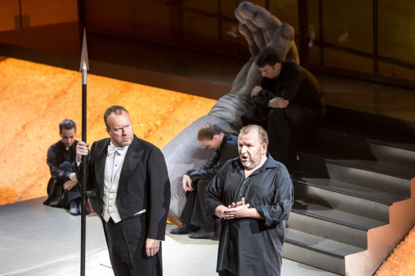 Wotan és Loge: Johan Reuter és Christian Franz (fotó: Pályi Zsófia / Müpa)