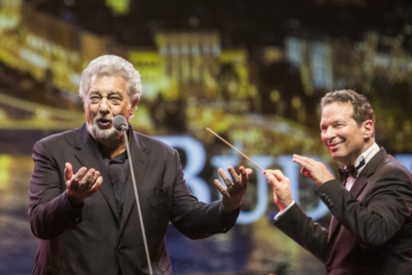 Plácido Domingo és Eugene Kohn (fotó: Pályi Zsófia / Müpa)