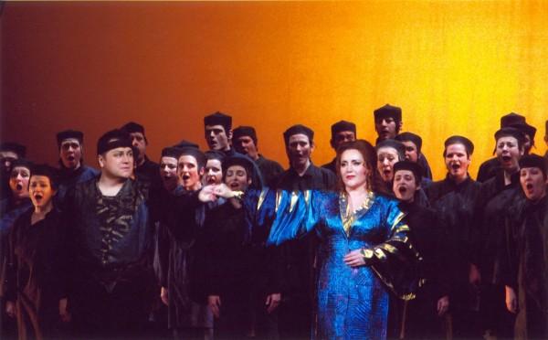 Bándi János és Lukács Gyöngyi a Turandot zárójelenetében (Fotó: Éder Vera)