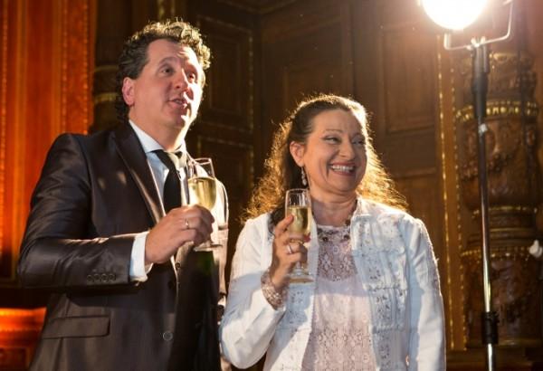 Tokody Ilona és Ókovács Szilveszter az ünnepségen (Fotó: MÁO / Nagy Attila)