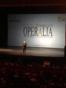 Plácido Domingo nyitóbeszéde a döntőben