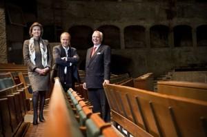 A Salzburgi Ünnepi Játékok vezetősége – Helga Rabl-Stadler, Sven-Eric Bechtolf és Alexander Pereira (Fotó: Luigi Caputo)