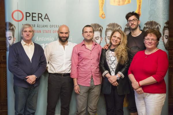 Az előadás alkotói és szereplői (fotó: Pályi Zsófia)