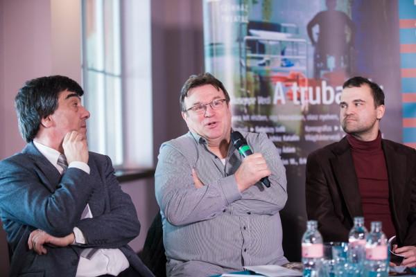 Vagyon István, Gulyás Dénes és Anger Ferenc az eseményt bejelentő sajtótájékoztatón (fotó: Nagy Attila)