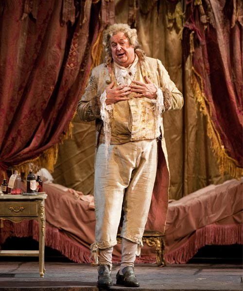John Del Carlo Don Pasquale szerepében (fotó: Metropolitan Opera)