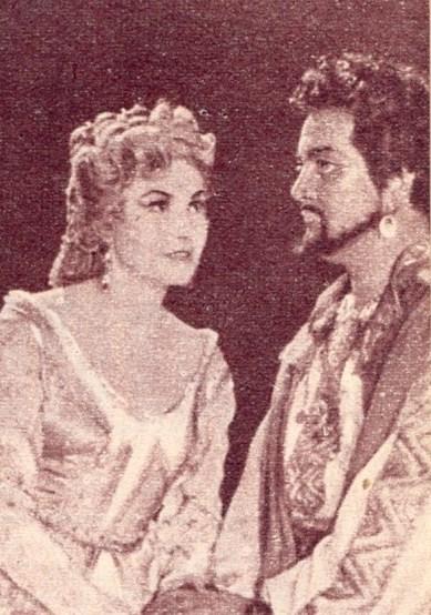 Otello szerepében Vámos Ágnessel (fotó: Film színház Muzsika archívuma)