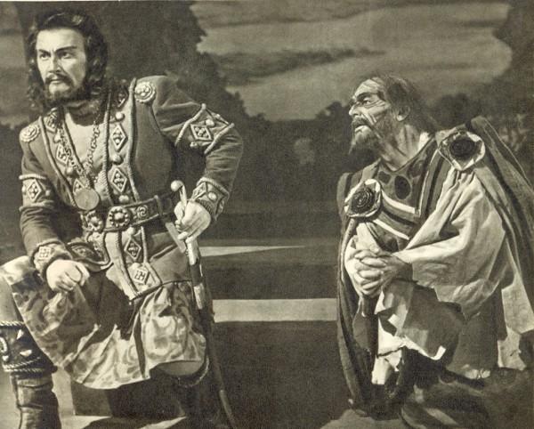 Bánk bán szerepében, Losonczy Györggyel (fotó: Magyar Állami Operaház)
