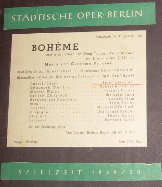 A Bohéméletben Berlinben - az előadás plakátja
