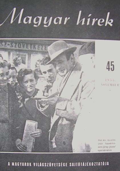 Hazatérés - a Magyar Hírek címlapján