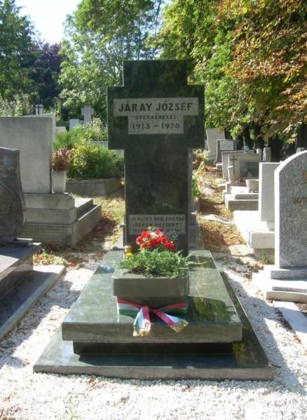 Járay József sírja a farkasréti temetőben