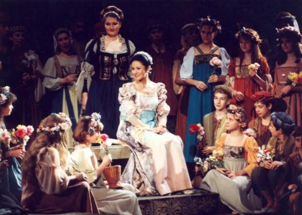 Desdemona szerepében az Otellóban (Fotó: Mezey Béla)