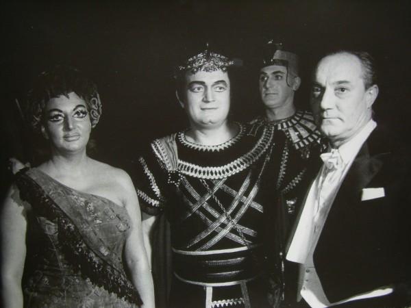 Aida-előadás után Kónya Sándorral és Ferencsik Jánossal