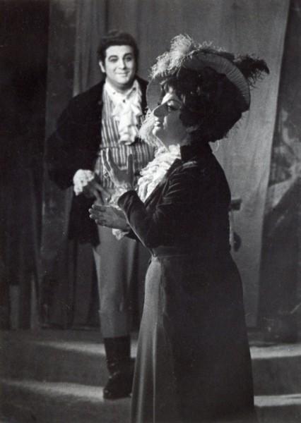 Tosca szerepében Plácido Domingóval