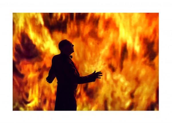 Az istenek alkonya - zárójelenet. Loge: Gantner István (fotó: Kotschy Gábor / Művészetek Palotája)