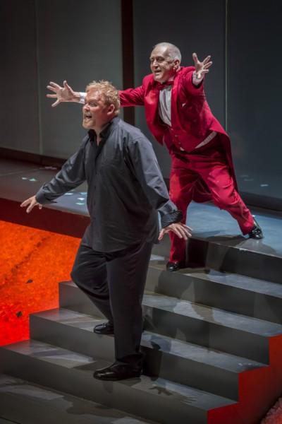 Jay Hunter Morris és Gantner István a Siegfriedben (fotó: Kotschy Gábor / Művészetek Palotája)