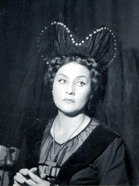 Szilágyi Erzsébet szerepében (Fotó: MTI)
