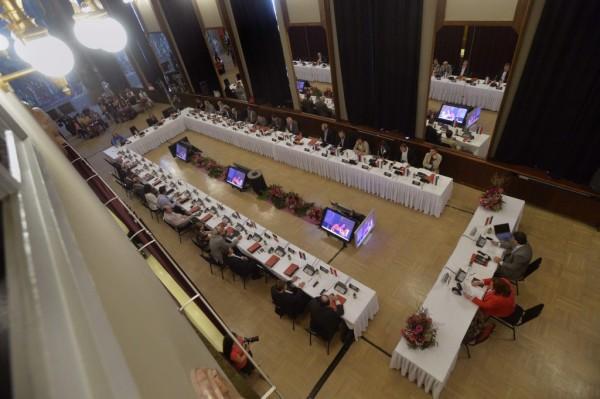 A konferencia résztvevői (fotó: Máthé Zoltán / MTI)