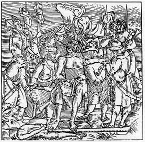 Rézmetszet Dózsa kivégzéséről