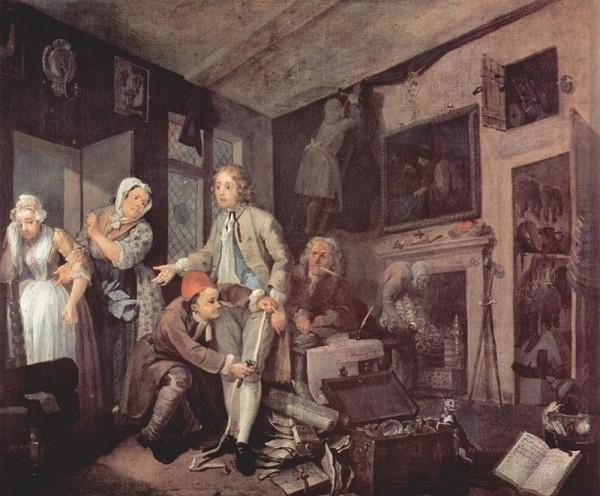 William Hogarth: A Rake's Progress 1.