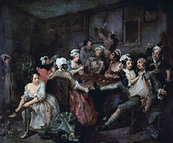 William Hogarth: A Rake's Progress 3.
