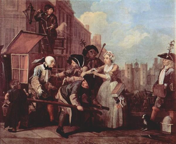 William Hogarth: A Rake's Progress 4.