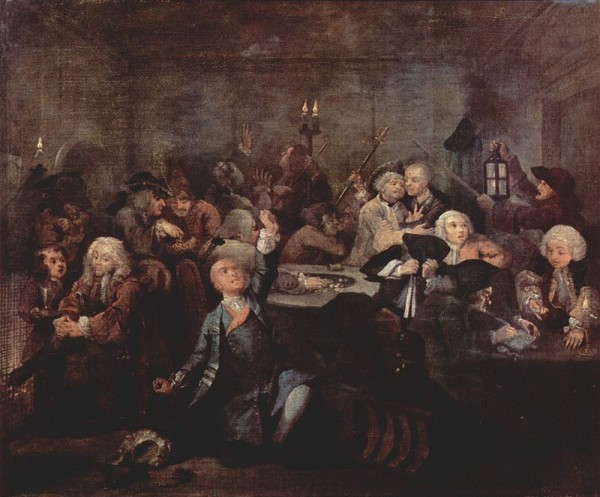 William Hogarth: A Rake's Progress 6.